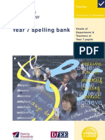 Year 7 Spelling Bank