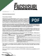 ANG PAGSUSURI - Collaboration Letter