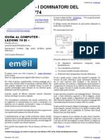Guida al Computer - Lezione 74 - La Posta Elettronica Parte 1