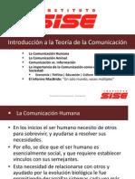 Teoría de la Comunicación -Semana 01