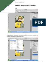 Hasilkan Efek Sketch pada Gambar [Adobe PS]
