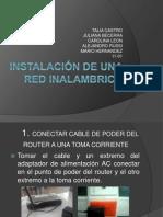INSTALACIÓN DE UNA RED INALAMBRICA corregido