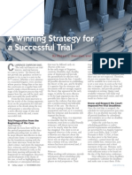 A Winning Strategy for a Successful Trial