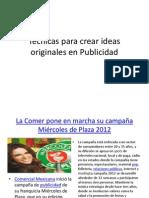 Técnicas para crear ideas originales en Publicidad