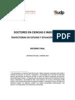 TRAYECTORIAS LABORALES DE LOS DOCTORES EN CIENCIAS E INGENIERÍAS EN CHILE