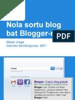 Nola Sortu Blog Bat Bloggerren