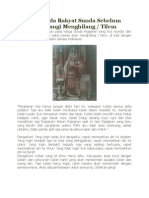 Pesan Kepada Rakyat Sunda Sebelum Prabu Siliwangi Menghilang