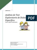 Análisis de Test Exploratorio de Dislexia Específico