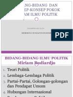 Bidang-Bidang Ilmu Politik