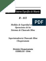 Medidas de Seguridad en Las Operaciones de Los Sistemas de Chancado Mina