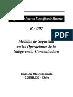 Medidas de Seguridad en Las Operaciones de Subgerencia Concentradora