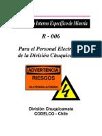Reglamento Interno Para Personal Electricista