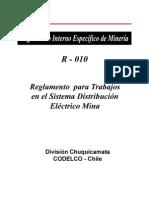 Reglamento Para Trabajos en El Sistema Distribucion Electrico Mina
