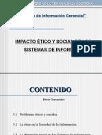 Impacto Etico y Social de Los SI