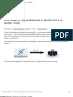 Como Mover un blog wordpress de un servidor local a un servidor remoto « CheosWeb
