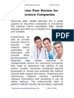 Physician Peer Review for Insurance Companies