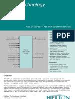 Aes Ccm 8bit Asic Datasheet