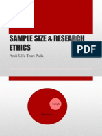 SAMPLE SIZE & RESEARCH ETHICS