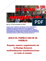 Noticias Uruguayas Jueves 15 de Noviembre Del 2012