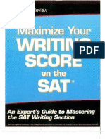 Maximize Your Writing Score