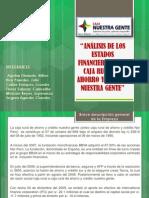 ANÁLISIS DE LOS ESTADOS FINANCIEROS DE LA