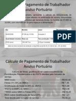 Cálculo de Pagamento de Trabalhador Avulso Portuário