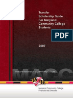Transfer Scholarship Guide for Maryland Community College Students