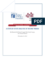 A STATE-BY-STATE ANALYSIS OF INCOME TRENDS