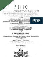 Pio IX-Historia Documentada de su Vida-Tomo 1