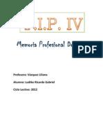 Memoria Profesional Docentecaratula