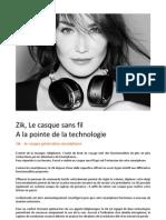 ZIK Parrot Design by Starck, Casque Audio Sans Fil