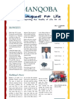 Conquest For Life July - September 2012 Newsletter
