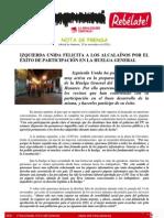 Valoración de IU sobre la Huelga General en Alcalá
