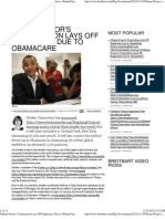 Obama Donor's Corporation Lays Off Employees Due to ObamaCare.p