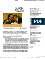 Obama Hosts Bono, Unions, Podesta at Fiscal Cliff Summit