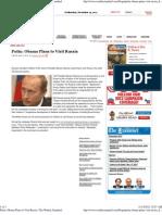 Putin -Obama Plans to Visit Russia