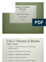 Lecture8 Shear Stresses in Beams
