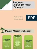 Pengantar Kajian Lingkungan Hidup Strategis