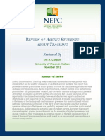 Eric m. Camburn [Nepc] 2012_review of 'Asking Students About Learning' [Met Project]