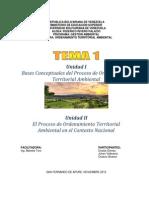 Tema 1. Bases Conceptuales Del Proceo de Ordenamiento Territorial Ambiental