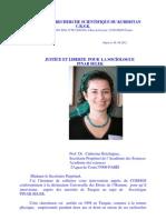 Lettres Aux Academies Des Sciences en Demandant La Justice Et Liberte Pour La Sociologue Pinar Selek