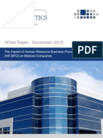 White Paper - The Impact of Human Resource Business Process Outsourcing (HR BPO) on Midsize Companies[1]