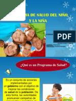Programa del Niño y la Niña grupo 1
