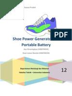 Paper Shoe Power Generator