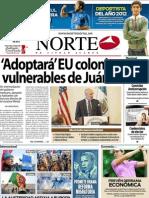 Periodico Norte de Ciudad Juárez 15 de Noviembre de 2012