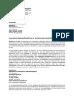 Internistisch-hausärztliche Praxis in München startet mit Webauftritt