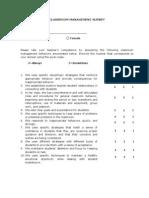 Classroom Management Survey