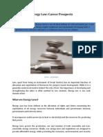 Energy Law- Career Prospects