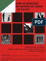RELEVAMIENTO Y ANÁLISIS SOBRE LA APLICACIÓN DEL CÓDIGO DE FALTAS EN LA CIUDAD DE CÓRDOBA