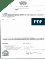 Recorded Affidavit of Trademark Copyright Notarized Authenticated